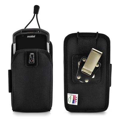 Zebra TC70 Holster for Motorola TC70 / TC70x TC700H / TC72 / TC75 / TC75x /TC77Touch Mobile Computer, Nylon Scanner Case with 2 Belt Clips (Metal Clip & Belt Loop)