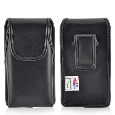 Kyocera DuraForce Holster Black Belt Clip Case Pouch Leather Vertical Turtleback
