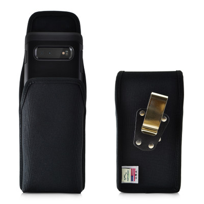 Galaxy S10+ Nylon Vertical Holster Case Metal Belt Clip