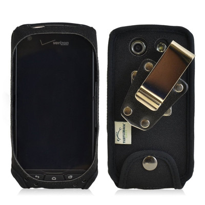 Kyocera Brigadier E6782 Heavy Duty Nylon Phone Case with Removable Metal Clip
