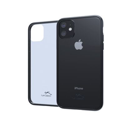 Hybrid Case for Apple iPhone 11 6.1 Inch with Anti-Scratch Ultra Clear Back and Black Sides, shockproof