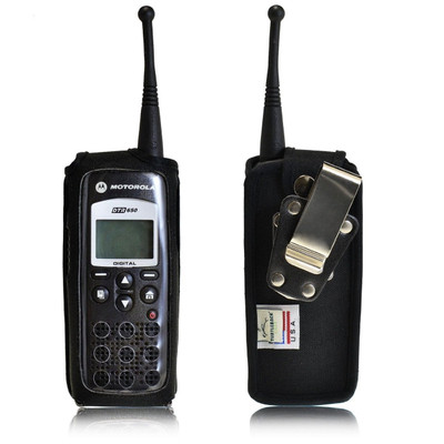 Motorola DTR 650 Heavy Duty Nylon Phone Case with Rotating Metal Clip