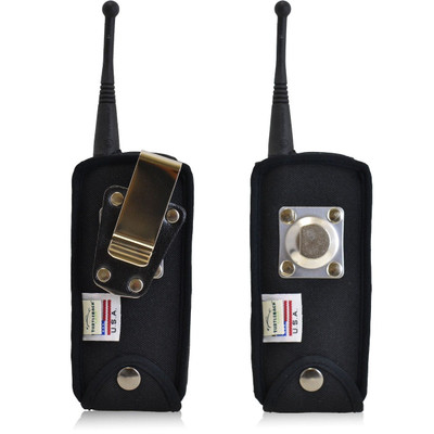 Motorola DTR 650 Heavy Duty Nylon Phone Case with Rotating Metal Clip - Bottom Closure