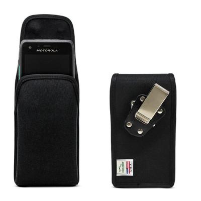 Motorola Lex L11 Vertical Holster Black Nylon Pouch with Heavy Duty Rotating Belt Clip