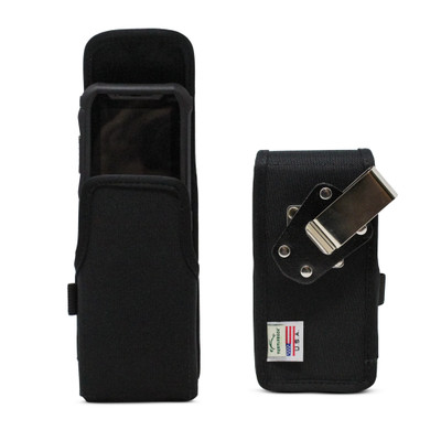 JVC Kenwood KWSA50K Holster Pouch, Vertical Nylon Case with Rotating Belt Clip & Magnetic Closure