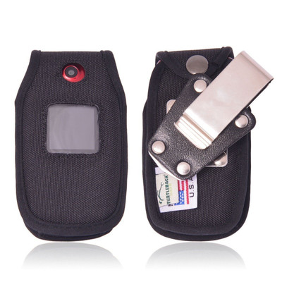 Greatcall Jitterbug 5 GreatCall Heavy Duty Nylon Fitted Cellphone Case with Rotating Removable Metal Clip