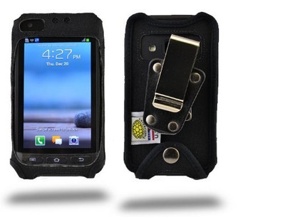 Samsung Rugby Pro i547 Heavy Duty Nylon Phone Case with Rotating Removable Metal Clip