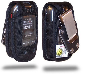 Samsung Convoy U640 Extended Battery Heavy Duty Nylon Phone Case Rotating Removable Metal Clip