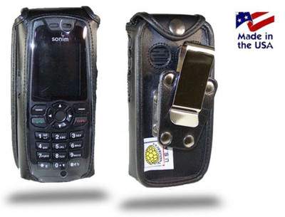 Sonim XP 3.2 Quest Heavy Duty Leather Fitted Case, Metal Belt Clip by Turtleback