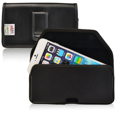 iPhone 6/6S Horizontal Leather Fixed Clip Holster