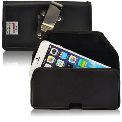 iPhone 6 Plus/6S Plus Horizontal Leather Rotating Clip Holster