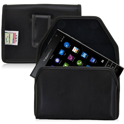 Blackberry Passport Horizontal Leather Holster, Black Belt Clip