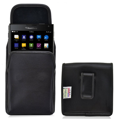 Blackberry Passport Vertical Leather Holster, Black Belt Clip