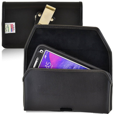 Note 4 Extended Horizontal Leather Rotating Clip Holster