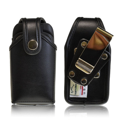 Kyocera DuraXT E4277 Leather Holster, Metal Belt Clip, Snap Closure