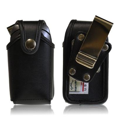Pantech C520 Breeze Leather Holster, Metal Belt Clip, Snap Closure