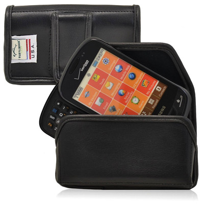 Samsung Brightside Qwerty Horizontal Leather Holster, Black Belt Clip