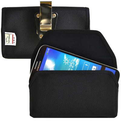 Samsung Galaxy Mega 6.3 Horizontal Nylon Holster, Metal Belt Clip