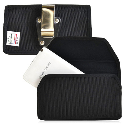 Samsung Galaxy Note 3 III Horizontal Nylon Holster, Metal Belt Clip