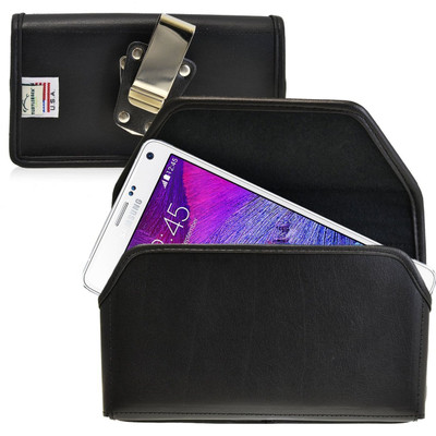 Note 4 Horizontal Leather Rotating Clip Holster