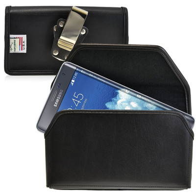 Samsung Galaxy Note Edge Horizontal Leather Holster, Metal Belt Clip