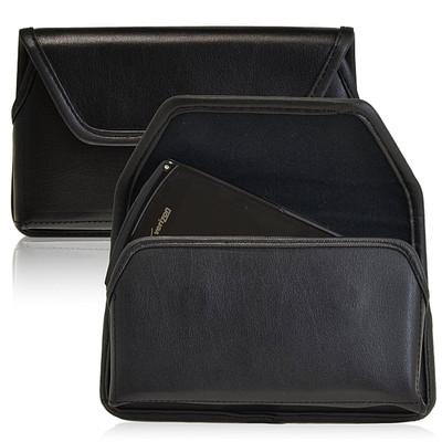 Samsung Galaxy S4 IV Horizontal Leather Holster, Black Belt Clip
