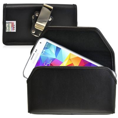 Samsung Galaxy S5 Horizontal Leather Holster, Metal Belt Clip