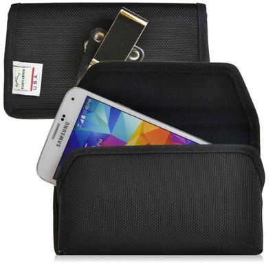Samsung Galaxy S5 Horizontal Nylon Holster, Metal Belt Clip