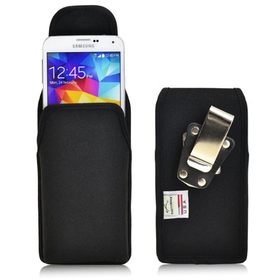 Samsung Galaxy S5 Vertical Nylon Holster, Metal Belt Clip