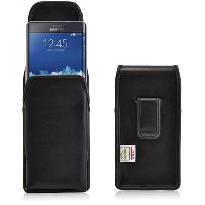 Samsung Note Edge Vertical Leather Holster, Black Belt Clip