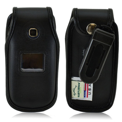 LG 450 Executive Black Leather Case Phone Case with Ratcheting Belt Clip