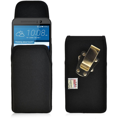 HTC One M9 Vertical Nylon Holster, Metal Belt Clip