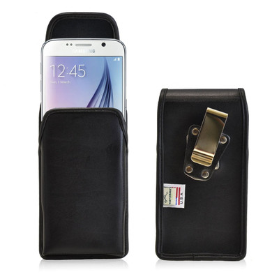 Galaxy S6 Vertical Leather Rotating Clip Holster