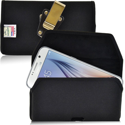 Galaxy S6 Horizontal Nylon Rotating Clip Holster