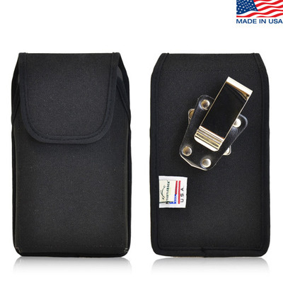 5.50 x 3.00 x 0.50in - Vertical Nylon Holster, Metal Belt Clip