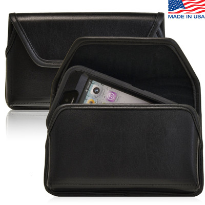 iPhone 5/5S/SE Extended Horizontal Leather Rotating Clip Holster