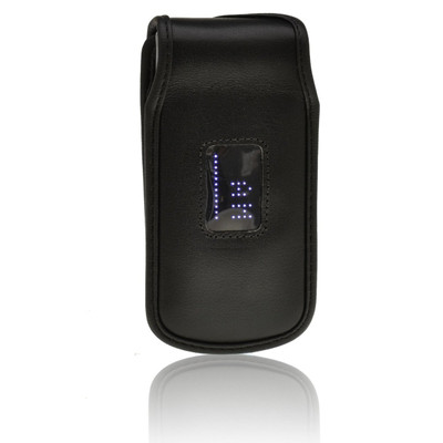 LG Wine 3 UN530 Fitted Black Leather Case Phone Case with Rotating Belt Clip