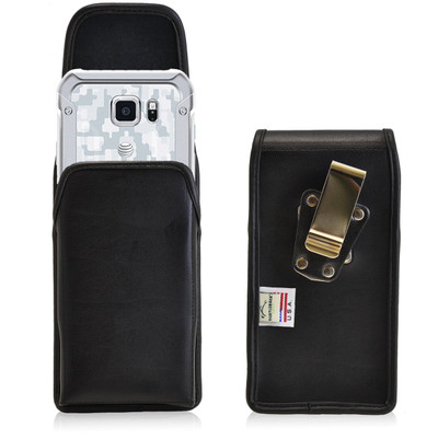 Galaxy S6 Active Vertical Leather Rotating Clip Holster