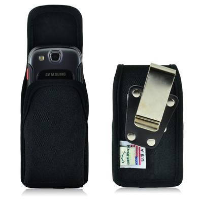 Samsung Convoy 3 U680 Vertical Black Nylon Holster, Metal Belt Clip