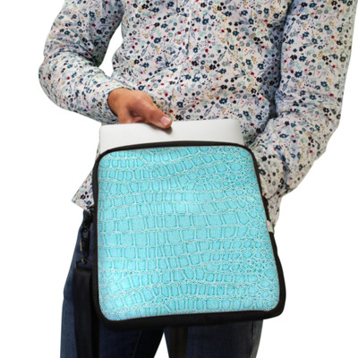 Laptop Case in Teal Turquoise Color - Multiple Sizes, Padded, Water Resistant- Made in USA