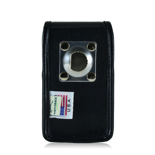 Blackberry 8520 9360 9700 Leather Holster, Metal Belt Clip