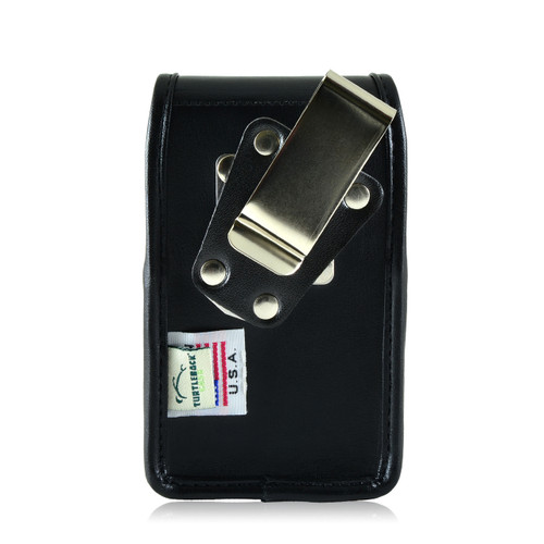 Blackberry Q10 9900 9600 Leather Holster, Metal Belt Clip
