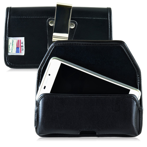 BLU Vivo Air Leather Holster Case Metal Belt Clip