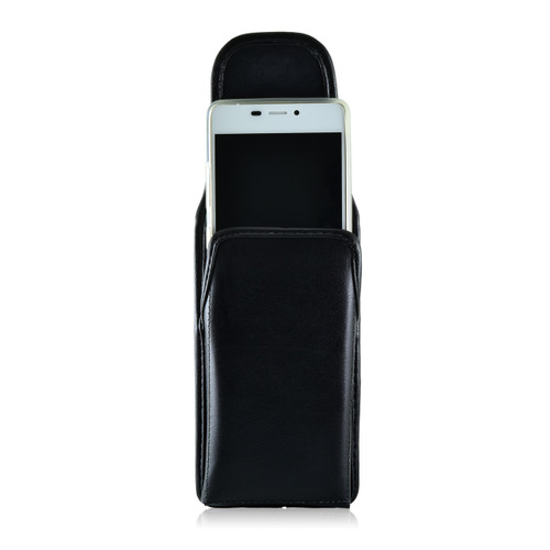BLU Vivo Air Vertical Leather Holster Case Metal Clip