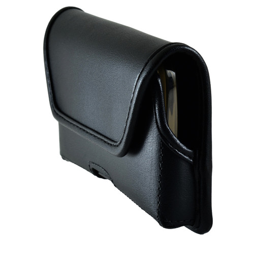 BLU Advance 4.0 Leather Holster Case Black Belt Clip