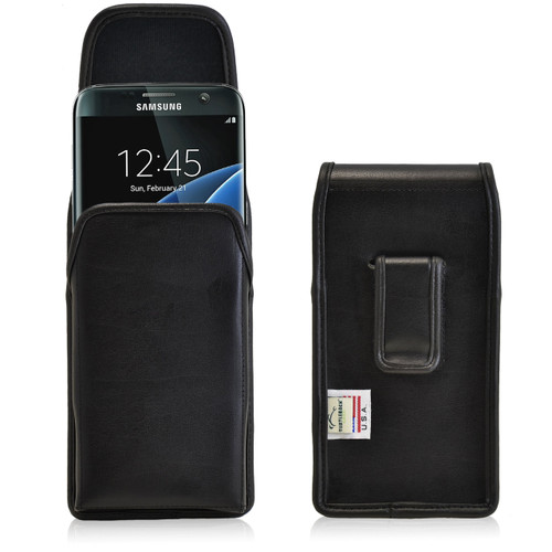 Galaxy S7 Edge Vertical Leather Fixed Clip Holster