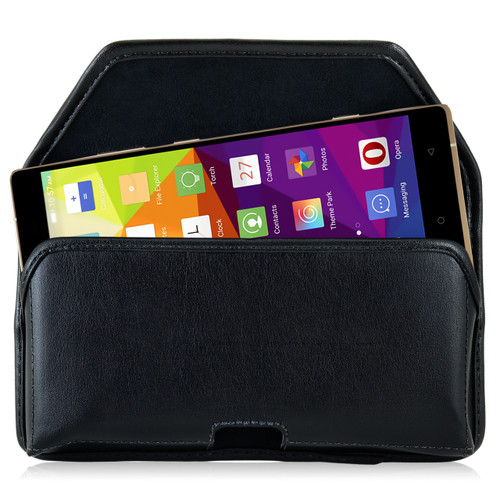 Blu Pure XL Leather Holster Case Black Belt Clip
