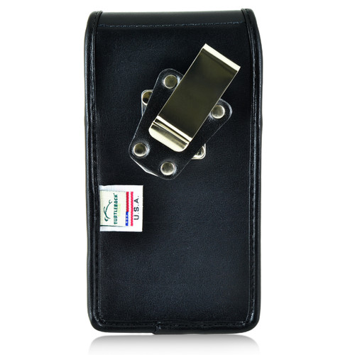 Blu Pure XL Vertical Leather Holster Case Metal Belt Clip