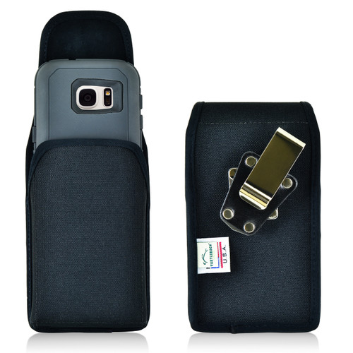 Galaxy S7 Extended Vertical Nylon Rotating Clip Holster