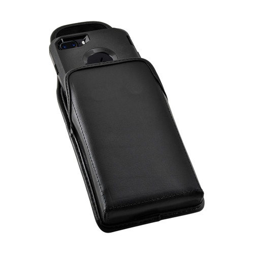 iPhone 8 and iPhone 7 Holster Vertical Black Belt Clip Fits Otterbox Defender Case